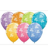 "11"" Birthday-A-Round Contemporary Assortment (50 ct.)"