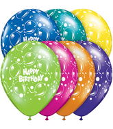 "11"" Birthday Sparkling Balloons Fantasy Assortment (50 ct.)"