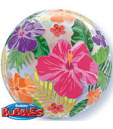 "24"" Tropical Hibiscus Flower Double Bubble"