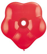 "6"" Geo Blossom Latex Balloons  (50 Count) Red"