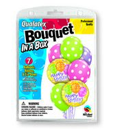 7 Balloons  Birthday Polka Dots Bouquet