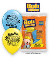 "12"" Bob the Builder 6 pack Latex Balloons"