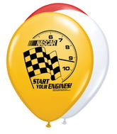 "11"" Nascar Latex Balloons"