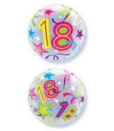 "22"" 18 Brilliant Stars Plastic Bubble Balloons"