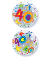 "22"" 40 Brilliant Stars Plastic Bubble Balloons"