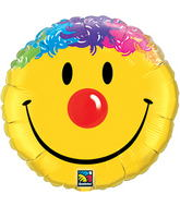 "18"" Smile Face Packaged Mylar Balloon"