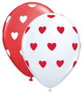 "16"" Big Hearts Assorted White & Red (50 ct.)"