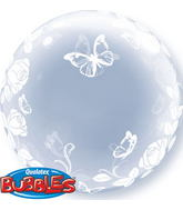 "24"" Deco Bubble – Elegant Roses & Butterflies"
