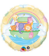"18"" Baby's Ark & Rainbow Mylar Balloon"