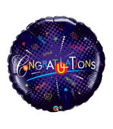 "36"" Congratulations Dazzle–Did It Jumbo Packaged Balloon"