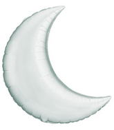 "35"" Crescent Moon Silver Balloon"