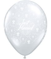 "11"" Just Married Flowers-A-Round Diamond Clear (50 ct.)"