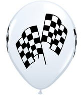 "11"" Racing Flags White (50 ct.)"