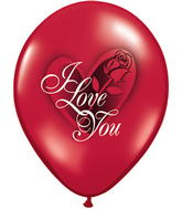 "11"" I Love You Red Rose Ruby Red (50 ct.)"