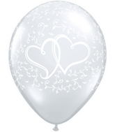 "11"" Entwined Hearts Diamond Clear (50 ct.)"