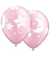 "11"" Baby Moon & Stars Pearl Pink (50 ct.)"