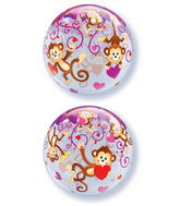 "22"" Love Monkey Bubble Balloon"