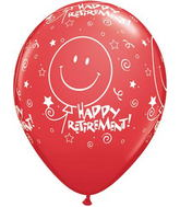 "11"" Retirement! Smile Face-A-Round Festive Assorted 50s"