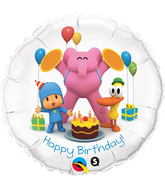 "18"" Pocoyo & Friends Happy Birthday Licensed Mylar Balloon"