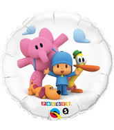 "18"" Pocoyo & Friends Licensed Mylar Balloon Packaged"