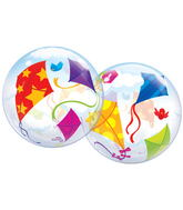 "22"" Kites In Flight Plastic Bubble Balloons"