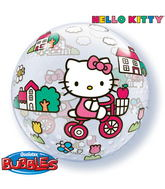 "22"" Hello Kitty Licenced Character Bubble Balloons"