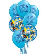 7 Balloons  The Smurfs & Friends Bouquet