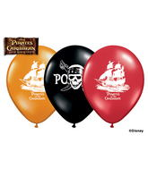 "11"" Assorted Latex Balloons Pirates Of The Caribb"