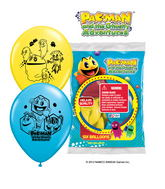 "12"" Pac man 6 pack Latex Balloons"
