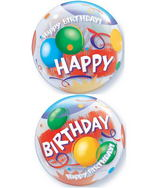 "22"" Birthday! Celebration Plastic Bubble Balloons"
