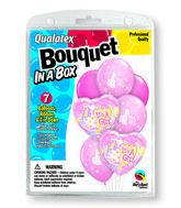 "7 Balloons It�s A Girl 18"" Bouquet"