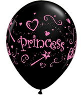 "11"" Princess Pink Writing Black (50 Count)"