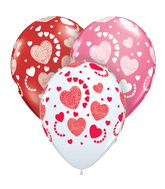 "11"" Etched Hearts-A-Round Love Assortment (50 ct.)"