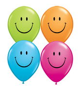 "11"" Smile Face Assorted  (50 ct.)"