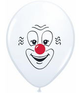 "16"" Classic Clown Face White (50 ct.)"