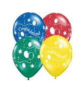"11"" Congratulations! Party Assorted (50 ct.)"