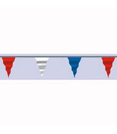 "6"" X 100 Foot Pennant Red White Blue"