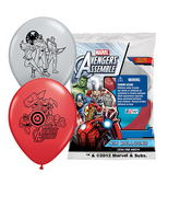 "12"" Avengers Assemble  6 pack Latex Balloons"