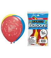 "11"" Birthday Boy Assorted  5 count Latex Balloons Packaged"