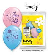 "12"" Tweety 6 pack Latex Balloons"