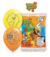 "12"" Looney Tunes 6 pack Latex Balloons"