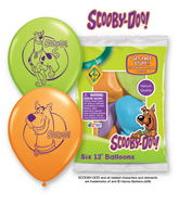 "12"" Scooby-Doo 6 pack Latex Balloons"