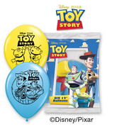 "12""  Toy Story 6 pack Latex Balloons"