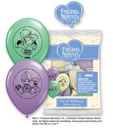 "12"" Precious Moments Baby 6 pack Latex Balloons"