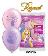 "12"" Rapunzel 6 pack Latex Balloons"