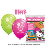 "12"" Hello Kitty 6 pack Latex Balloons"