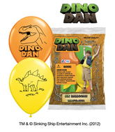 "12"" Dino Dan 6 pack Latex Balloons"