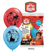 "12"" Wreck-It Ralph 6 pack Latex Balloons"