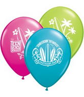 "12"" Teen Beach Musical 6 pack Latex Balloons"