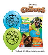 "12"" The Croods 6 pack Latex Balloons"
